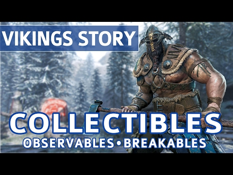 For Honor - All Collectible Locations (Observables & Breakables) - Vikings Campaign