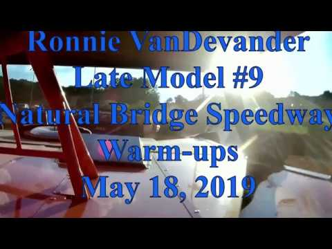 Ronnie VanDevander warming up at Natural Bridge Speedway - 5/18/19