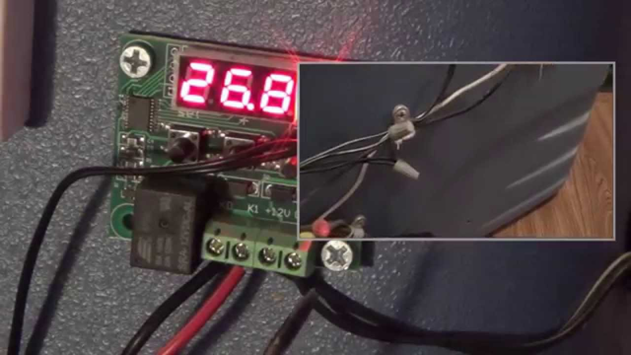 installing a w1209 12 volt dc digital temp controller into an incubator youtube [ 1280 x 720 Pixel ]