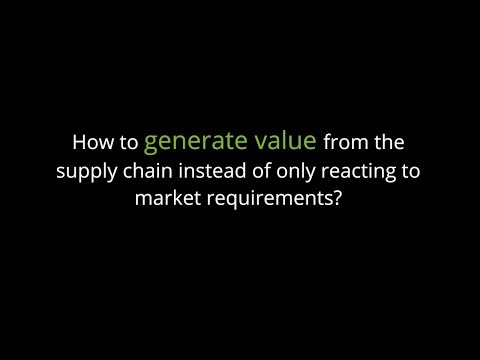 Generate Value - Supply chain management in the chemicals industry