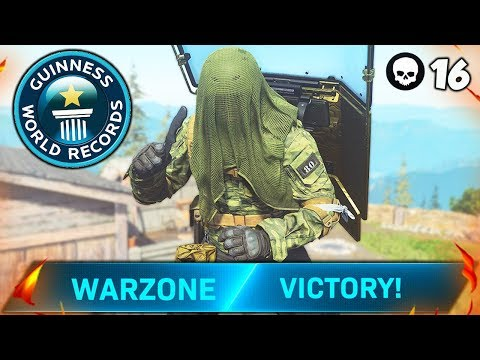 WORLD RECORD 16 KILL KNIFE ONLY SOLO VICTORY (Modern Warfare Warzone)