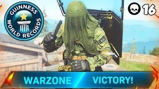 WORLD RECORD 16 KILL KNIFE ONLY SOLO VICTORY (Modern Warfare Warzone)