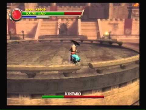 Mortal Kombat Shaolin Monks-Facing Kano Shang Tsung Kintaro & Shao Khan