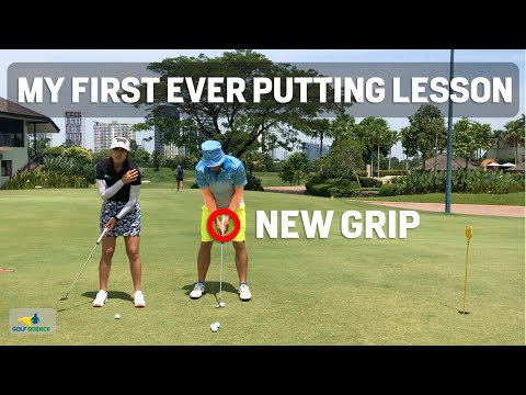 How I Changed My Putting Stroke Grip – My First Ever Putting Lesson Michele Low