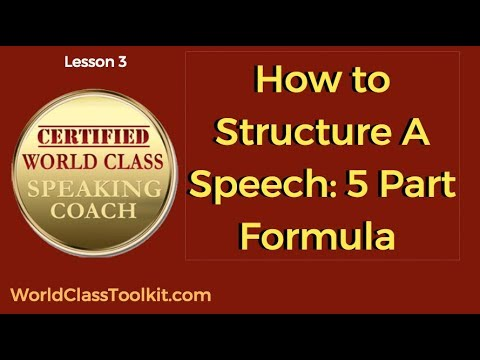 How To STRUCTURE A Speech [World Class Speaking Toolkit Part3]