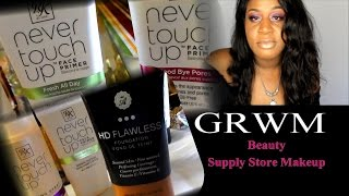 GRWM Feat. *NEW* BEAUTY SUPPLY STORE MAKEUP + 5 HR CHECK IN!
