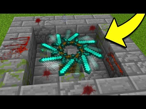 How to Make a Working SPINNING BLADE in Minecraft Tutorial! (Pocket Edition, Xbox, PS4/3, PC)