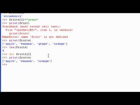 Python 3 Tutorial: 14 - Lists