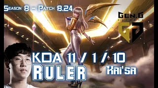 Download Video GEN Ruler KAI'SA vs LUCIAN ADC - Patch 8.24 KR Ranked MP3 3GP MP4