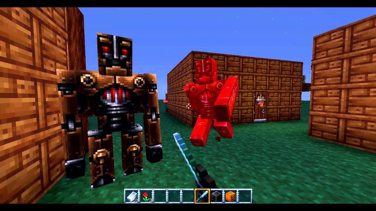 Comment faire un iron golem dans minecraft youtube - Comment faire un evier dans minecraft ...