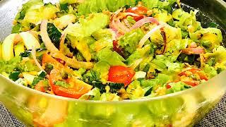 Салат с тунцом#как приготовить салат с тунцом#рецепт салата#салат без майонеза#готовим дома#