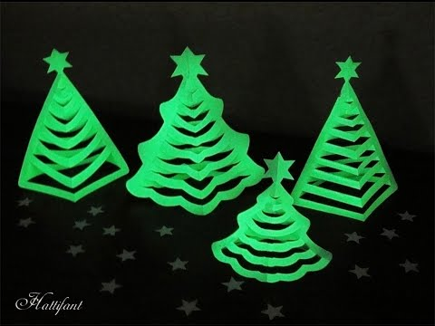 Hattifant - 3D Paper Christmas Trees - Glow in the dark!