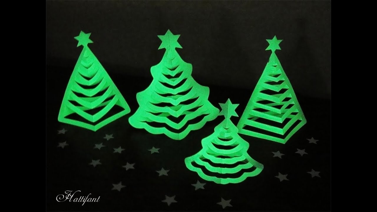 Hattifant - 3D Paper Christmas Trees - Glow in the dark! - YouTube