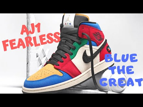 Nike Air Jordan 1 Blue The Great Fearless Unboxing On Feet