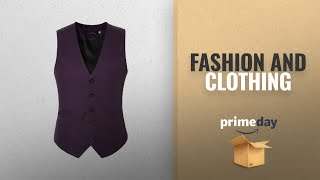 Prime Day Fashion Deals 2018: EHOMEBUY Men's Suit Waistcoat Slim Fit Formal Classic Suit Vest
