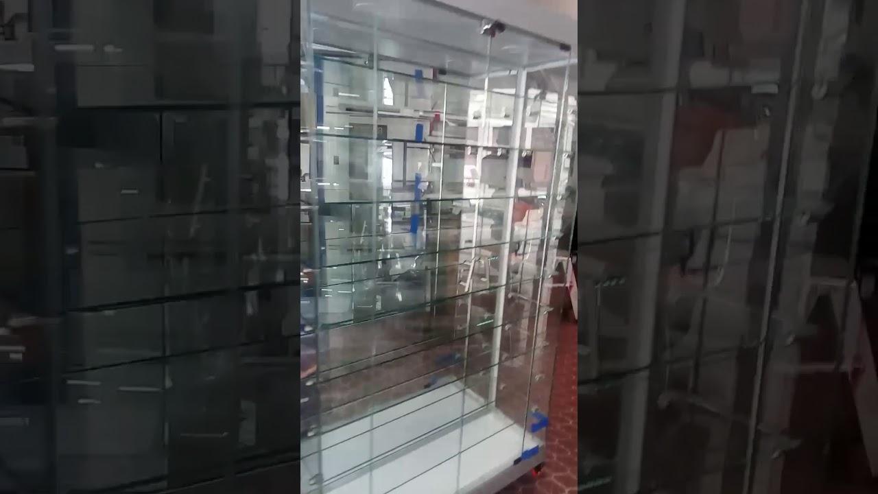 Vitrina Lateral En Vidrio De Lujo Ideal Para Exhibición De