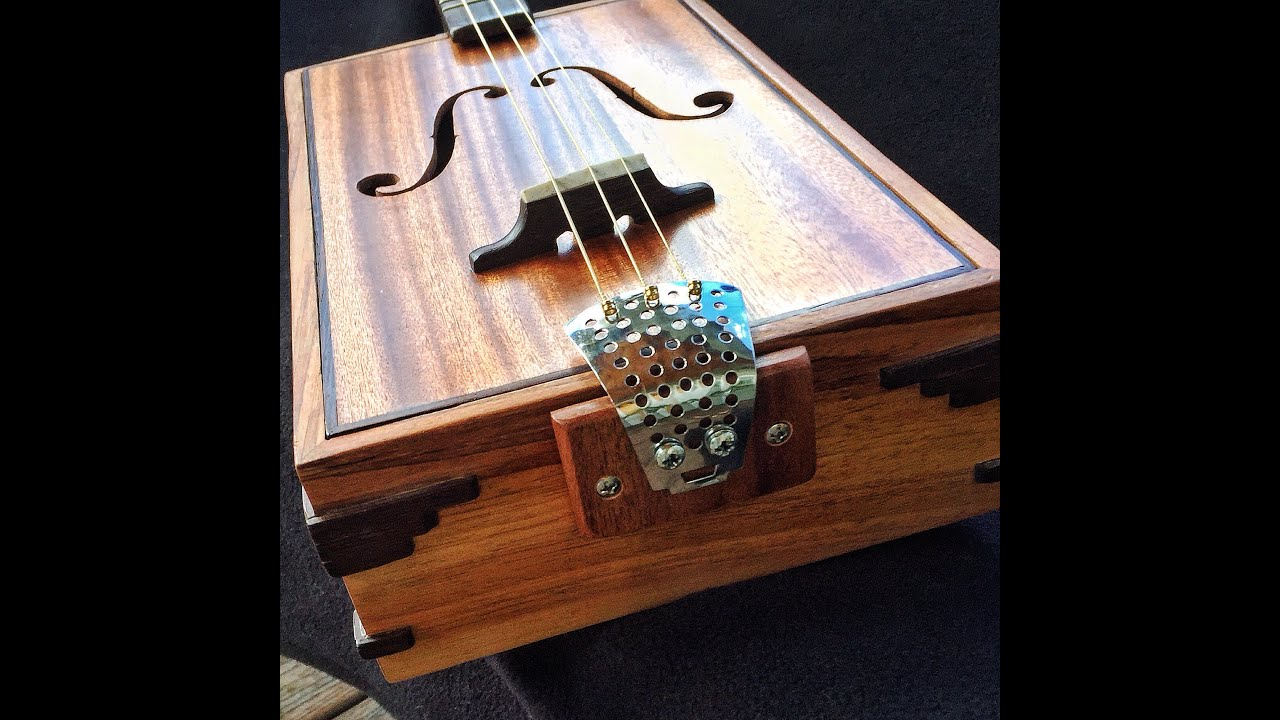 f hole 3 string cigar box guitar acoustic demo youtube. Black Bedroom Furniture Sets. Home Design Ideas