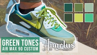 Custom Green Tones Shoes | How to Mix Angelus Paints