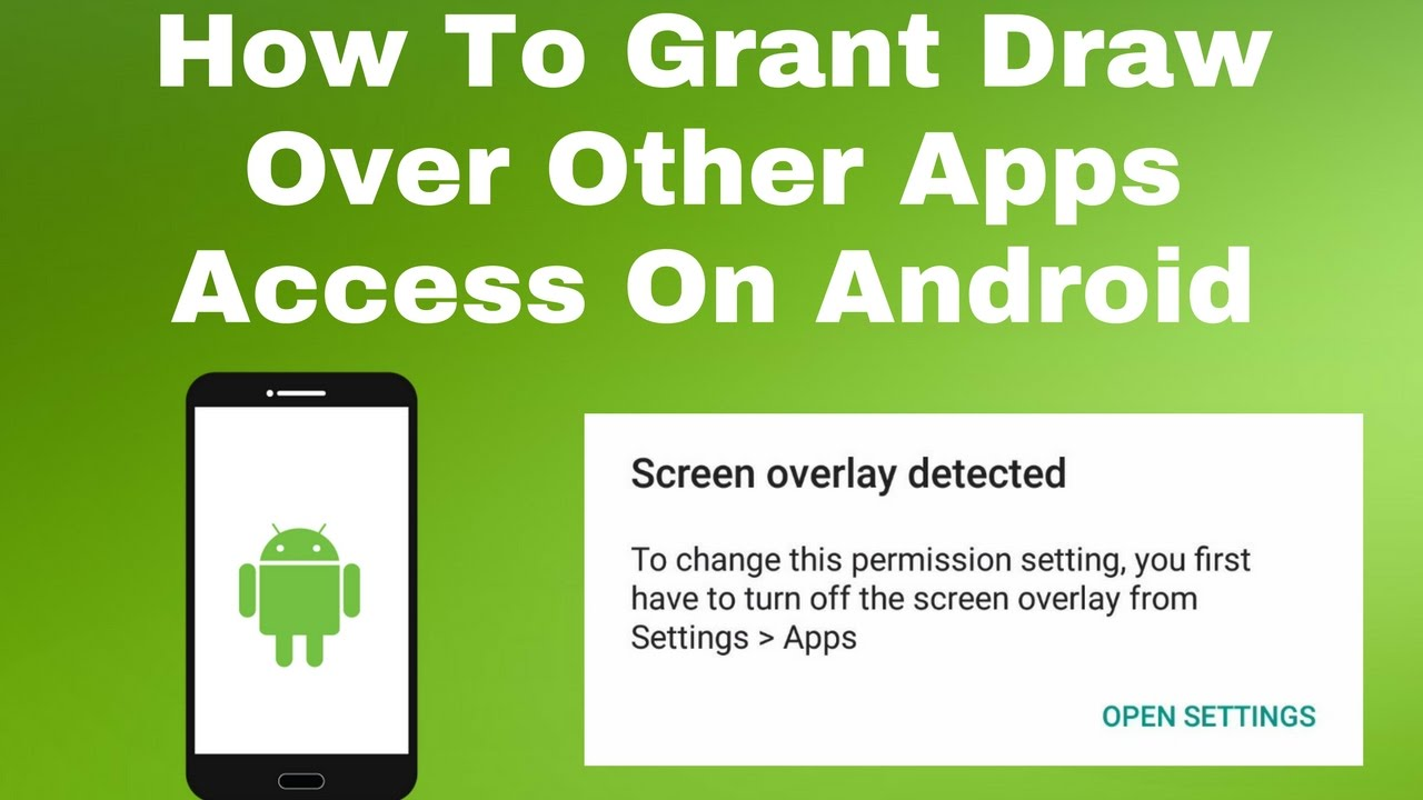 How to grant draw over other apps permission on android