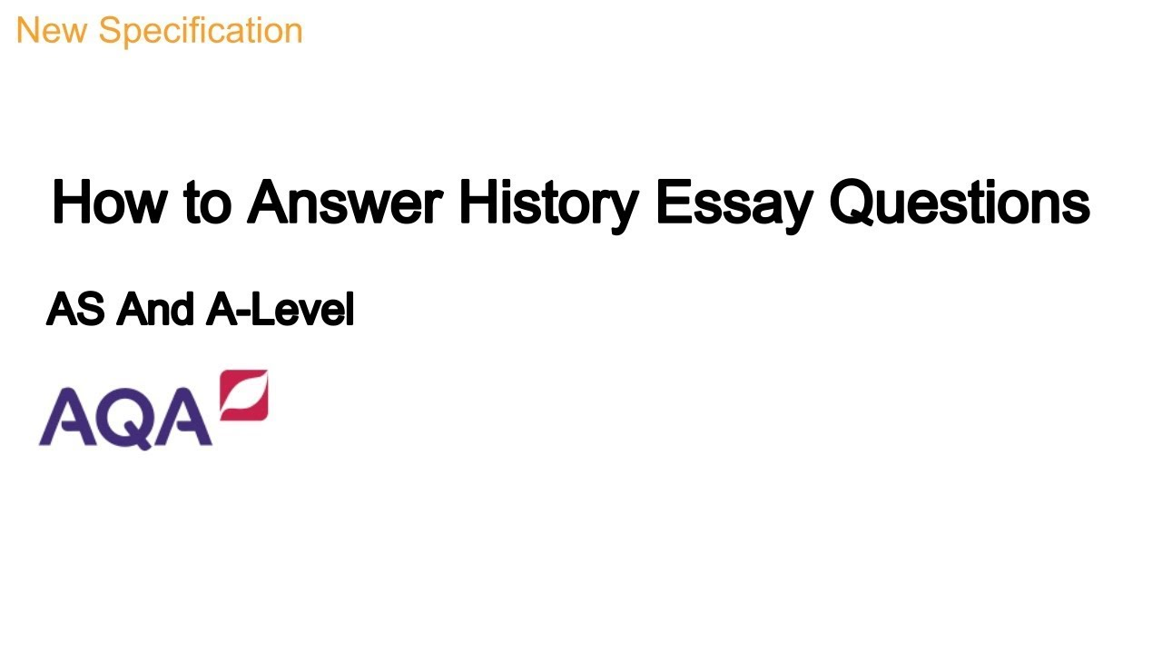 answer history essay question
