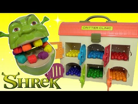 Thumbnail: Learning Videos For Children LEARN COLORS SHREK & MAGICAL Rainbow GUMBALLS, TOY SURPRISES