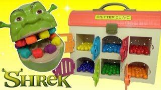 learning videos for children learn colors shrek magical rainbow gumballs toy surprises