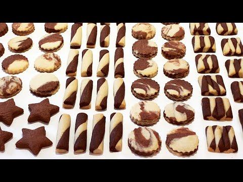 petits-sablés-chocolat-vanille,-recette-facile-et-rapide