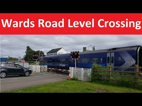 Wards Road Level Crossing - Aberdeen–Inverness line - Elgin. Moray