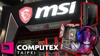 MSI Pushing New Monitors, Motherboards & Holographic Headphone Stand? | Computex 2018