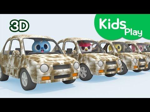 [Miniforce] Learn colors   Miniforce wash a car   Car wash   Miniforce Kids Play