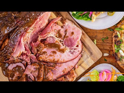 How To Make Spiral Ham With Brown Sugar Red Eye Glaze By Rachael