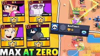 WE USED MAX BRAWLERS AT ZERO TROPHIES IN SHOWDOWN... THIS IS WHAT HAPPENED