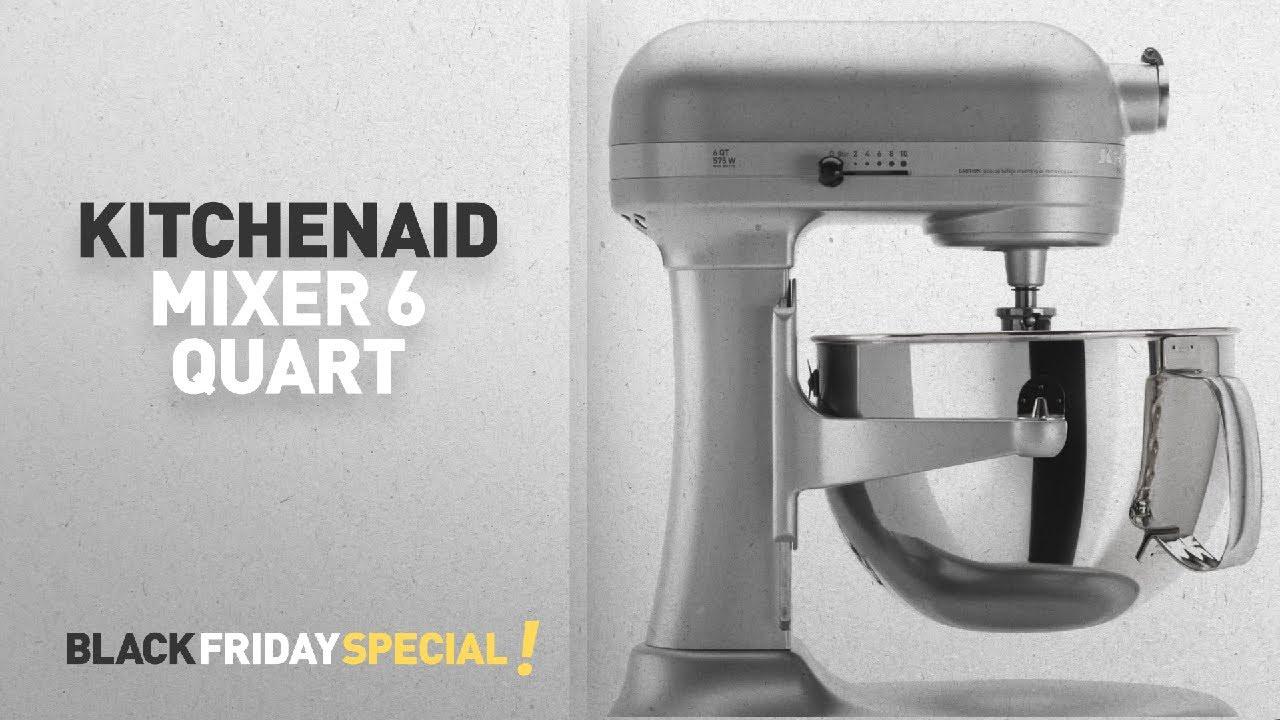 Kitchenaid Mixer 6 Qt Quart Top Deals Black Friday