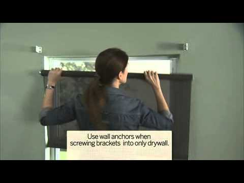 Charming Installing Roller Shades (Outside Mount)   YouTube