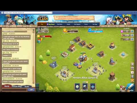 First Look At Castle Clash On Facebook!!!