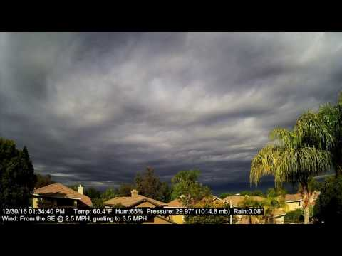 Chino Hills Time-Lapse 12/30/16