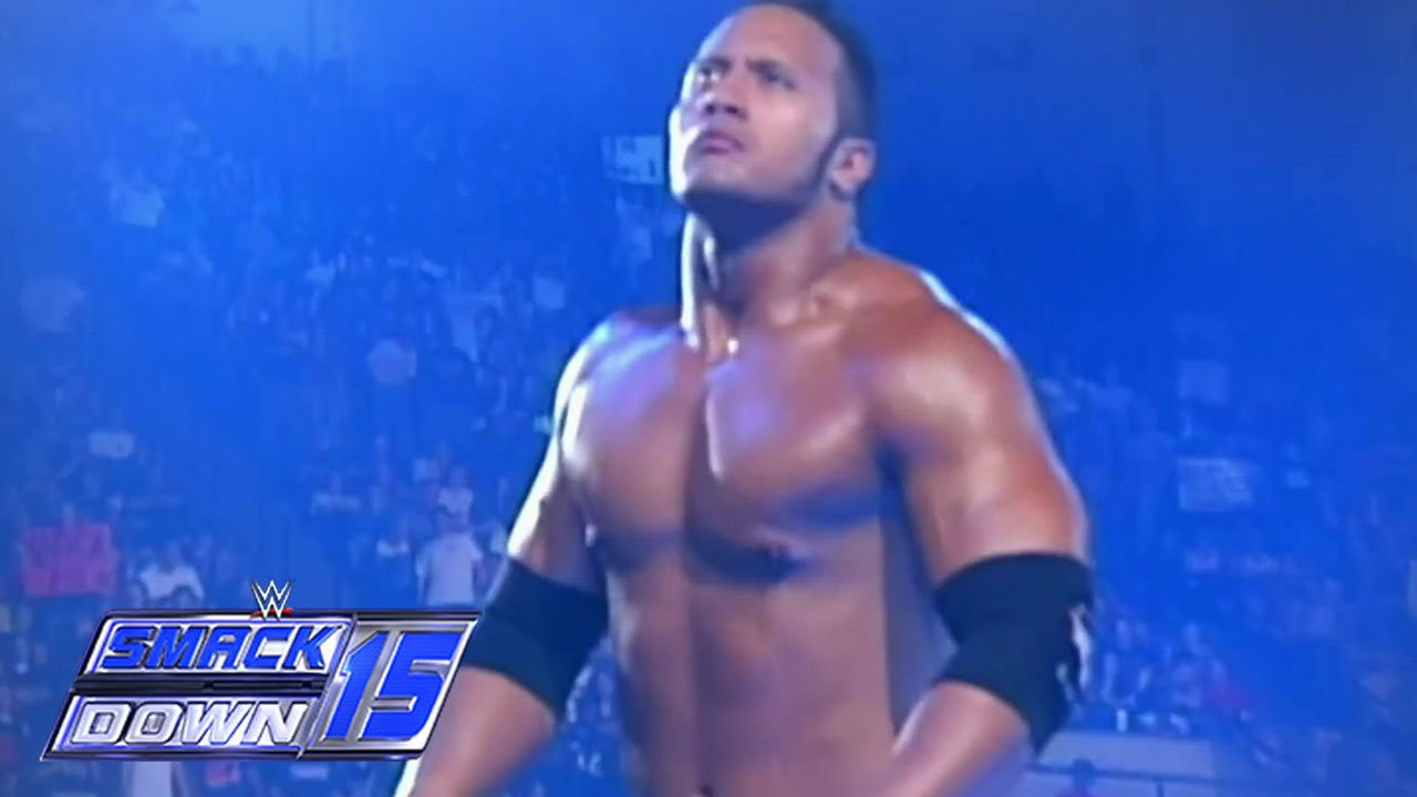 The Rock battles Triple H in SmackDown's debut - YouTube