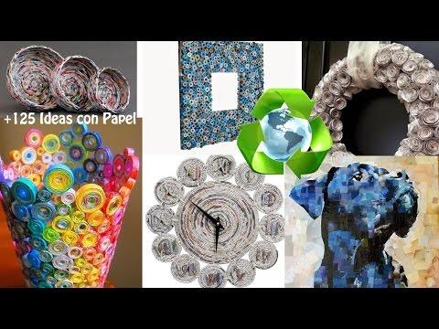 Reciclando Papel Ideas Creativas / Recycling Paper Creatives Ideas
