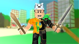 ROBLOX: THE WEAK WARRIOR WHO GOT VERY STRONG!! -Play Old man