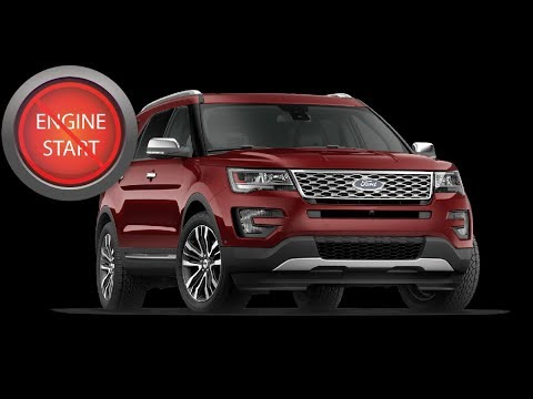 Ford Explorer: Open and start push button start models with a dead key fob battery.