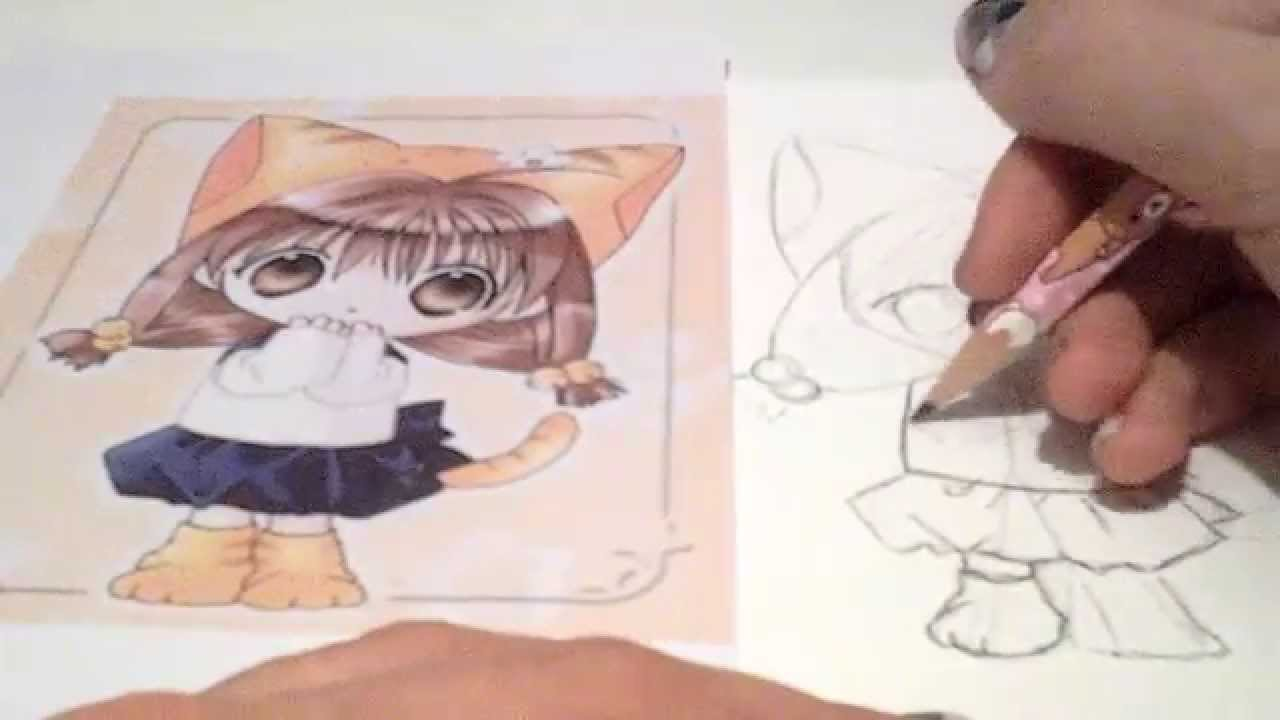 Manga 1 dessiner une fille d guis e en chat youtube - Fille de manga ...