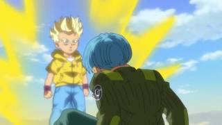 kid trunks vs future trunks   Dragon Ball Super Episode 59   English Sub