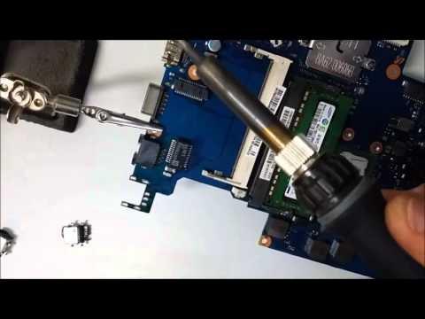 Samsung Ativ NP450 sostituzione connettore alimentazione - dc power jack replacement