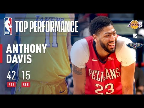 Anthony Davis Leads the Pelicans' Big Scoring Night With 42 Pts | February 14, 2018