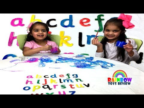 ABC Song Babies Learn Colors and Alphabets with Painting Activity Alphabet Song for Children, Kids