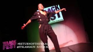 LASHAUN PRICE | Judge Solo #RETURNOFTHEWAACK live @RageWEHO {WAACKFEST LA 2015}
