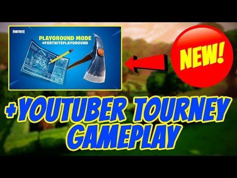 *NEW* Playground LTM Gameplay + $250 Youtuber Tournament (Fortnite Battle Royale)