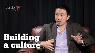 How do you build a culture for your organization? by Andrew Yang, CEO of Venture for America