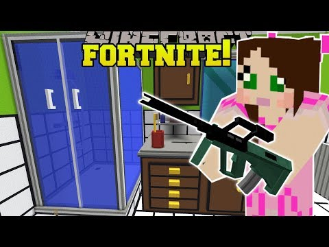 Minecraft: GIANT BATHROOM  FORTNITE BATTLE ROYALE  Modded MiniGame