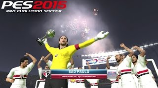 PES 2015: Gameplay, Sudamericana Final (São Paulo x Estudiantes de La Plata no Morumbi)